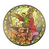 St. Michael Atrapasol Vidriera Ventana Adhesivo Reutilizable 6 Pulgadas Colgante para el Sol