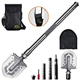 BESROY Camping Shovel – Portable Military Folding Shovel with Tactical Waist Pack & Multi-Tools for Camping, Outdoor Survival, Hiking, Hunting, Fishing, Expedition,Gardening, Car Emergency