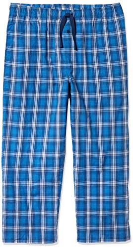 Fruit of the Loom Men's Woven Sleep Pajama Pant, Navy Plaid, Large