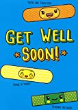 Paper House Productions Get Well Bandages with Cute Faces Juvenile Get Well Card for Kids : Children