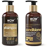 WOW Skin Science Hair Loss Control Therapy Conditioner, 300 ml & WOW Skin Science Hair Strengthening Shampoo - No Parabens, Sulphate & Silicones - 300ml