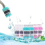 6 pcs Mini filtre à eau pour robinet Maison cartouche de noix de coco Charbon robinet l'eau du robinet propre purificateur filtre