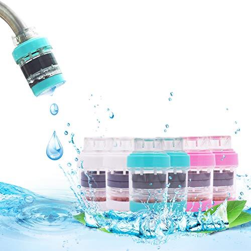 Mini Wasserhahn Wasserfilter 6 Stück Aktivkohle-runder Hahn Wasser Filter Filtration Haushalt Küche Wasserhahn Sauberen Luftreiniger Warenkorb