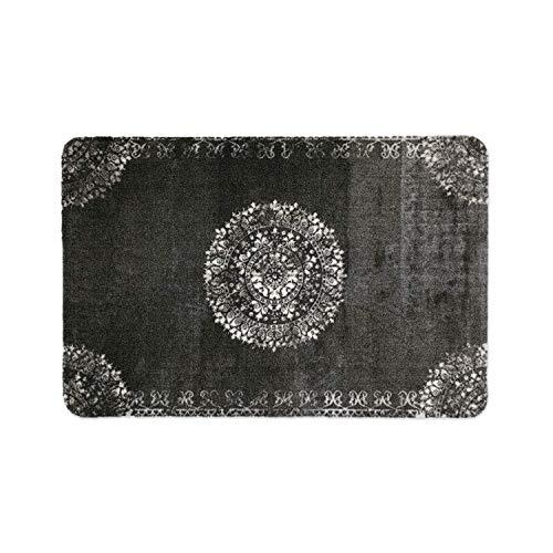 deco-mat Paillasson pour Porte d'entrée Noir • intérieur et extérieur • Tapis antidérapants lavables Tapis • 70 x 120 cm