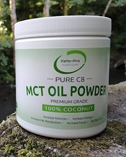 Pure C8 MCT Powder | Highest Quality & Most Ketogenic of All MCT's | Premium Grade C8 MCT | Highest Purity | Paleo | Vegan | Keto | Gluten Free | Palmfree | Pure Caprylic Acid | 250g