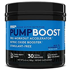 RSP Pump Boost nitric oxide preworkout supplement