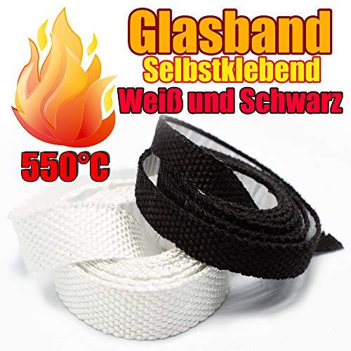 Glasband Kamindichtung Ofendichtschnur Selbstklebend aus GLASFASERN, Dichtband asbestfrei, hitzebeständig bis 550°C, viele Größen