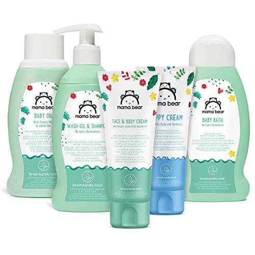 Marca Amazon- Mama Bear Set para los bebés: Gel de baño, c