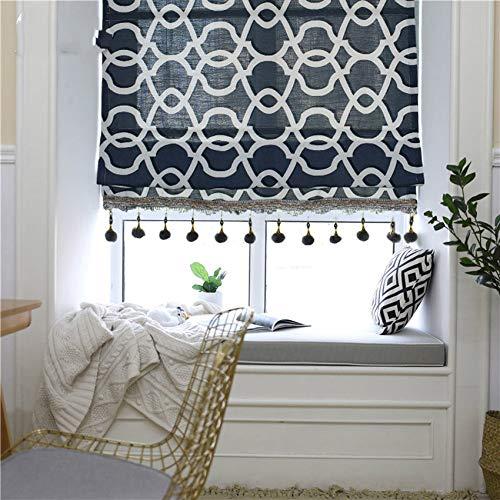 TEVERL Vorhänge mit Perlendruck Sonnenjalousien für Wohnzimmerjalousien