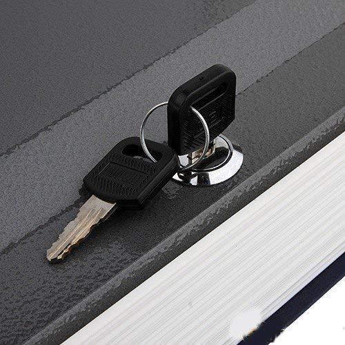 Birud Book Safe Dictionary Style Iron Locker Money Storage Box with Lock Safe Deposit Home Mini Cash Jewelry Security (24 x 15.5 x 5.5 cm, Multicolour)