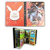 HanFashion Card Album Compatible with Pokemon Cards, Card Holder, Binder Cards Album Book Best Protection Trading Cards Put up to 240 Cards, Salamence