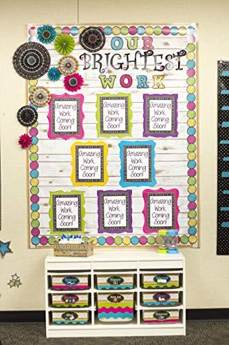 Teacher Created Resources 3498 Chalkboard Brights Circles Die-Cut Border Trim Photo #5
