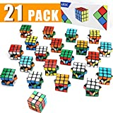 AROIC Mini Cubes, Puzzle Toys, Stress Relief Toys, Rubiks Cube Party Favors,Birthday Party Gifts,Party Supplies for Boys and Girls,21 Pieces.