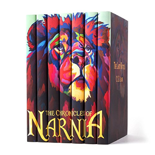 The Chronicles of Narnia | Seven-Volume Hardcover Book Set with Custom Designed Juniper Books Dust Jackets | Author C. S. Lewis