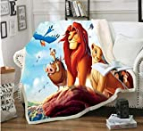 ZKPYZ Kuscheldecke König der Löwen Bedruckte Fleecedecke für Betten Dicke Steppdecke Tagesdecke Sherpa Decke Decke Erwachsene Kinder Büro Nap Decke (K) 150x200cm