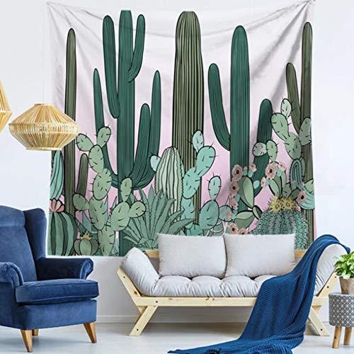 N/A Tapices 3D Impresión Mandala de Plumas de Cactus Tapiz de Estilo étnico Bohemio decoración del hogar Manta de Toalla de Playa Almohadilla de Playa Manta de decoración del hogar