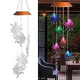 waroomss LED campanello solare, colore cangiante impermeabile all' acqua sei Angel Dolls s...