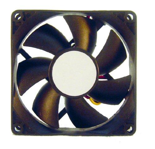 L-link LL-VENTILADOR-8X8 - Ventilador Adicional para Caja 80x80, Color Negro