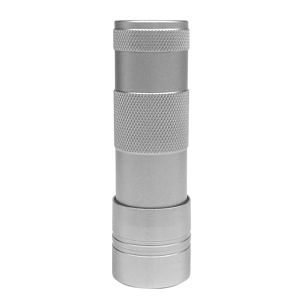 維持する算術タバコLEDハンドライト(12灯)ペン型?ハンディ型 ジェルネイル (シルバー)