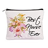 Nurse Gift Best Nurse Ever Cosmetic Bag Travel bag Nursing Student Gifts Nurse Practitioner Gifts for Women Nurses Week Gifts Nursing School Supplies Gifts Canvas Makeup Bag