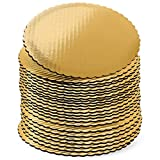 12 inch Gold Cake Boards Rounds, [24 Pack] Cake Base, 12-in Circle Cardboard, Disposable 12 in Round Cake Boards Perfect for Cake Decorating,