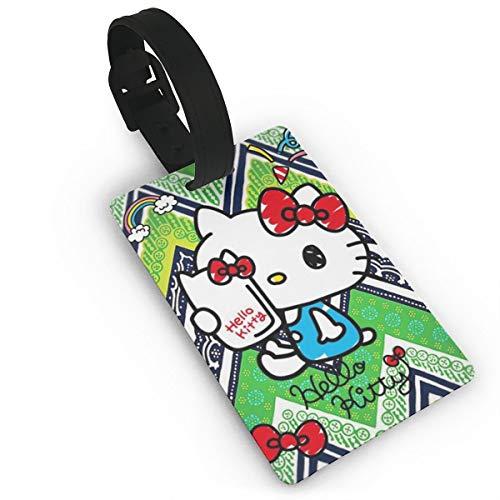 Etiqueta equipaje Hello Kitty maleta Morado Hello