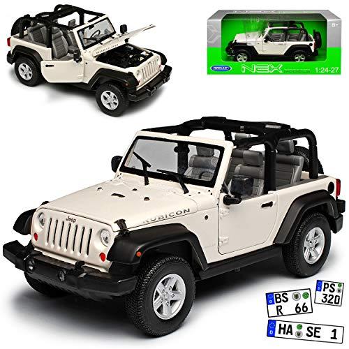 mächtig der welt Jeep Wrangler Bicon JK Weiss Offen 2007-20181 / 24 Welly Automodell…