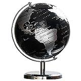 SODIAL Globo Terraqueo Globo de Mapa de ConstelacióN para Adornos de Escritorio de Mesa en Casa Accesorios de DecoracióN del Hogar de Oficina de Regalo (Negro)