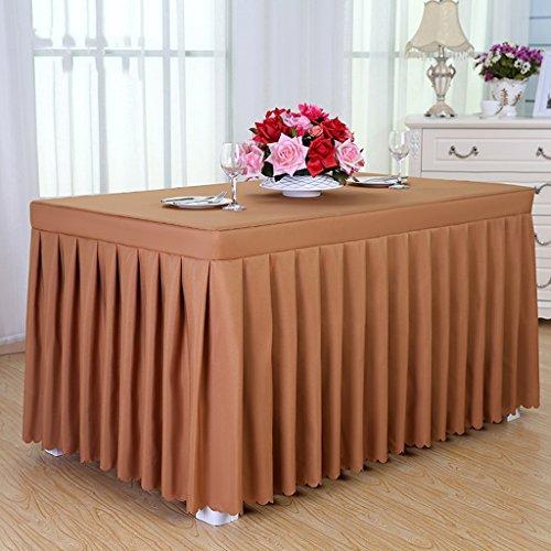 Nappe nappes de l'hôtel, jupes froides à manger de table, nappes de conférence, nappes, couvertures de table, taille, 160 * 60 * 75cm nappe (Couleur : Marron)