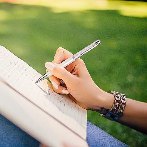 ボールペン高級スワロフスキークリスタル200個入りCrystallineクリスタルペンSwarovski公式認証付き軽量書きやすいオフィス用プレゼントギフトお祝いVEECANS(白)