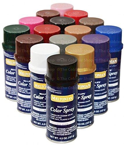 Meltonian Nu-Life Color Spray Leather Plastic Vinyl Paint/dye 4.5 Oz #607 Green (Brillo)