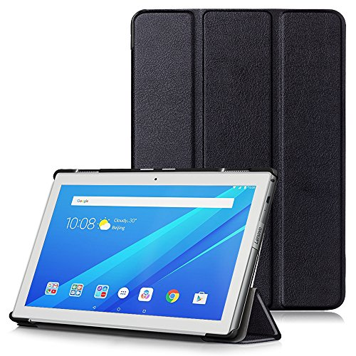 Lenovo Tab 4 10 Case, Ultra Slim Lightweight Smart Shell Stand Cover with Auto Wake/Sleep Function for Lenovo Tab 4 10' Tablet 2017 Release, Black