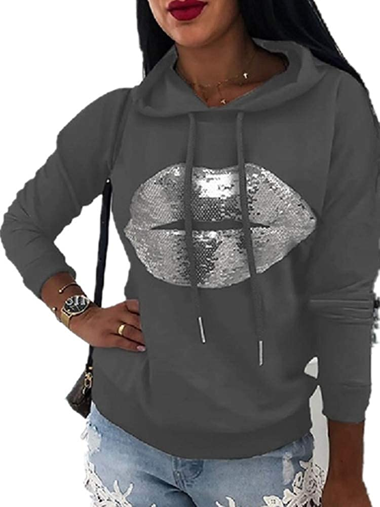 Xuan2Xuan3 Womens Tie Dye Pullover Hoodie Sweatshirts Long Sleeve Color Block Hoodies Tops