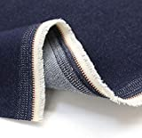 TOLKO Baumwollstoffe Sommer Jeans Stoff | weicher