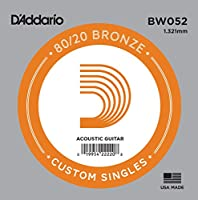 D'Addario ダダリオ アコースティックギター用バラ弦 80/20ブロンズ .052 BW052 【国内正規品】