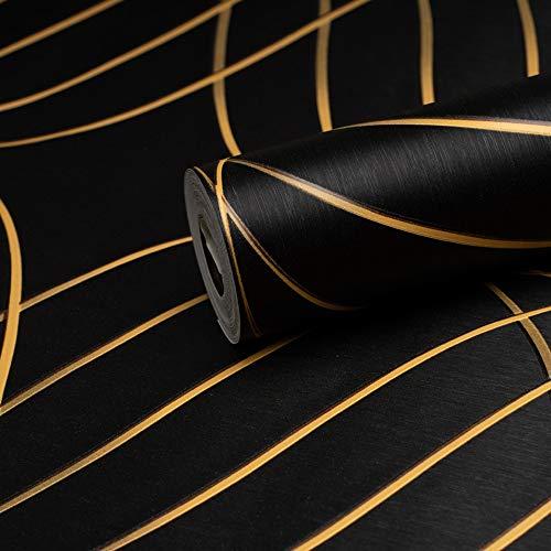 ANTEVIA - Papier Peint Intissé ou Vinyle | Effet 3D | PLUS DE 50 MODELES | 3D Trompe l'œil (Tourbillon Noir)