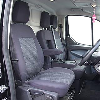 TEXMAR Ensemble de housses de si/ège en cuir /écologique adapt/és pour conduite /à droite et /à gauche pour Ford 1/simple et 1/double