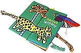 Livre en Tissu pour Bébé Jouets Educatifs avec des Animaux Queues pour Enfants plus de 3 Mois (Wild Animal)