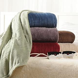 Biddeford 2024-905291-300 Electric Heated Knit MicroPlush Blanket, King, Brick