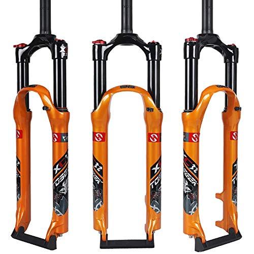 FWC Horquilla De Bicicleta De 26/27,5/29 Pulgadas, Carrera De La Horquilla MTB 120 Mm/Longitud del Tubo Vertical 250 Mm * 28,6 Mm/Diámetro Exterior del Tubo Interior 32 Mm/Engranaje Abi