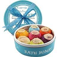 Aofmee Bath Bombs Gift Set, 7pcs Fizzies Spa Kit Perfect for Moisturizing Skin, Birthday Valentines ...