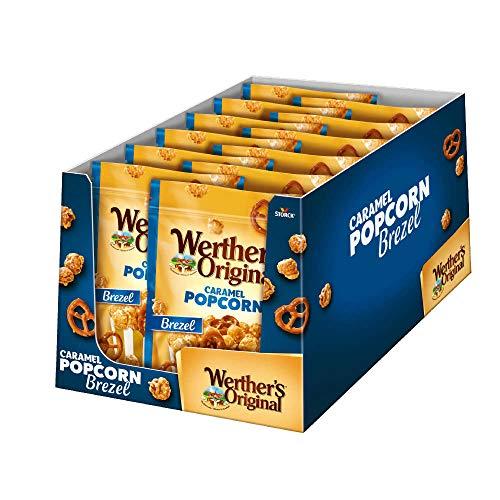 Werther's Original Popcorn Meersalz & Brezel – Knackiges Popcorn mit Brezeln und einem Hauch von Salz – Der süße Snack für zwischendurch – (12 x 140g)