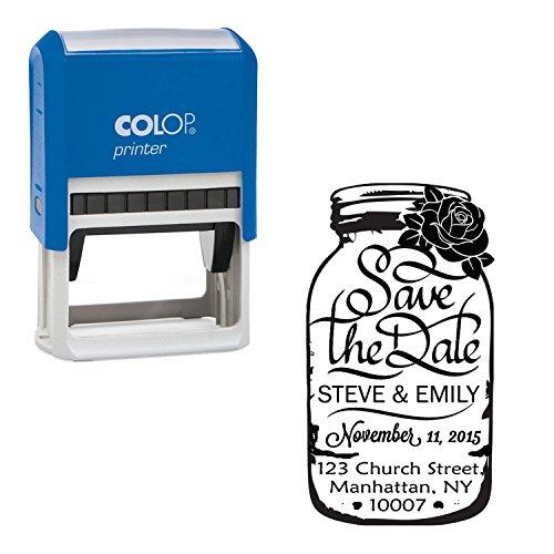 Maurer-Glas Individuelle Stempel Save The Date Wedding invitation Selbst Farbwerk Stamper Geschenk