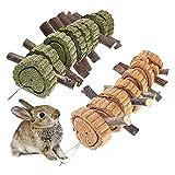 SKXZK Juguetes para Masticar Conejos, Naturales Madera de Manzana Pastel de...