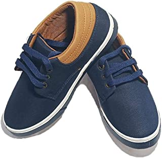 FOOTONREST Kids Synthetic Leather Casual Shoes and Sneakers for Kids and Boys 3 to 12 Years