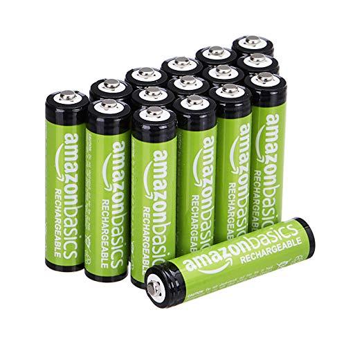 Amazon Basics AAA-Batterien, 800 mAh, wiederaufladbar, 16 Stück
