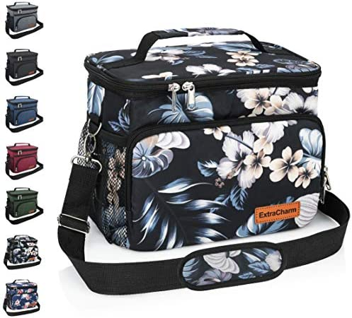 Insulated Lunch Bag for Women Men Reusable Lunch Box for School Office Picnic Hiking Leakproof product image