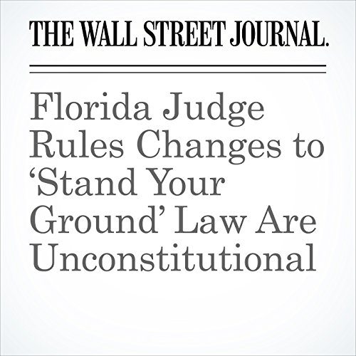 Florida Judge Rules Changes to 'Stand Your Ground' Law Are Unconstitutional copertina