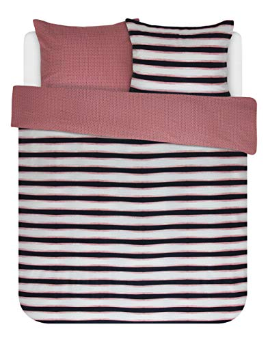 ESSENZA Duvet Cover Set 200x200/220 cm + 2 Pillowcases 60x70 cm Lyra Pink – Duvet Cover Collection Finished with a Double Flap.
