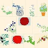 鳩居堂 夏から秋のハガキ 11枚セット kyu-36 ダリア・桔梗・朝顔・夏椿・オリーブ・ざくろ・トルコ桔梗 シルクスクリーン印刷 きゅうきょどう ポストカード はがき